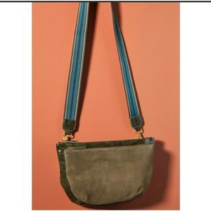 ANTHROPOLOGIE Leo Green Crossbody Bag